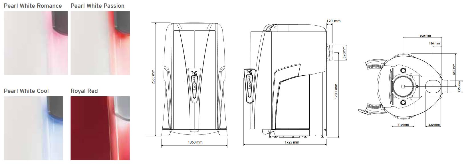 Варианты дизайна Luxura V10