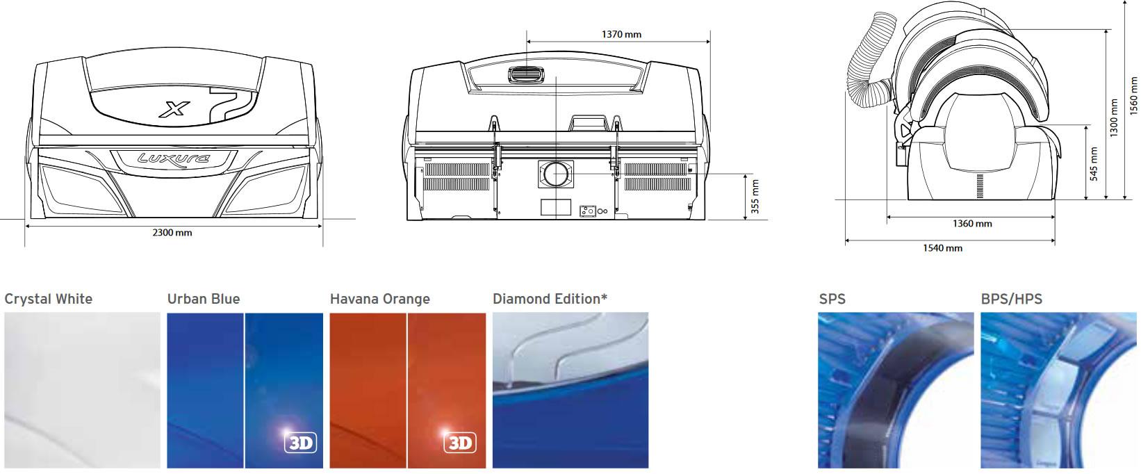 Варианты дизайна Luxura x7