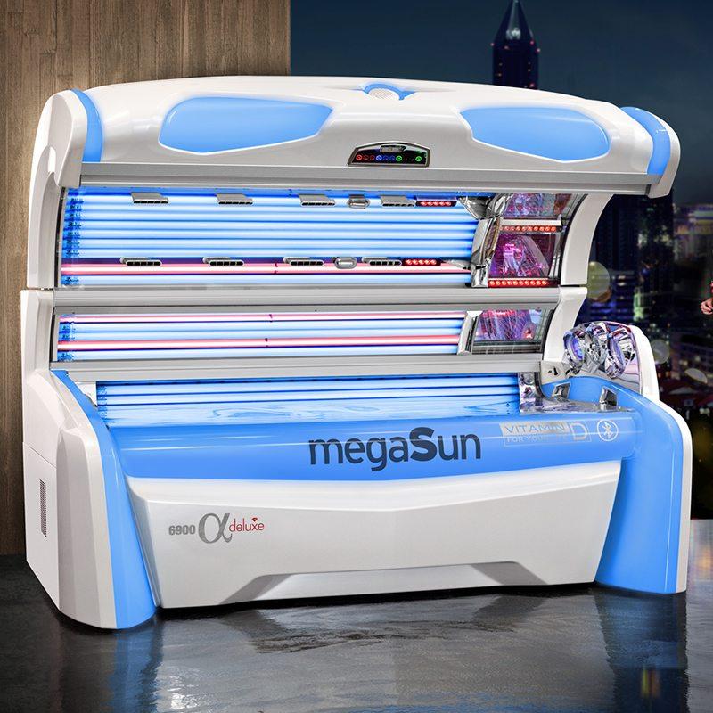 Горизонтальный солярий MegaSun 6900 alpha deluxe
