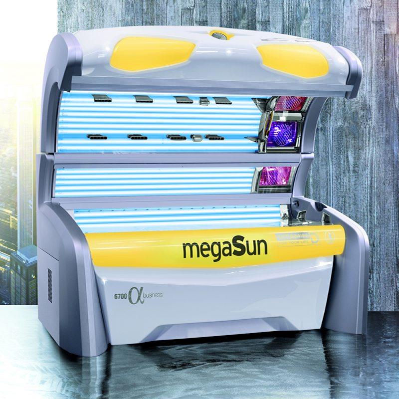 Горизонтальный солярий MegaSun 6700 alpha