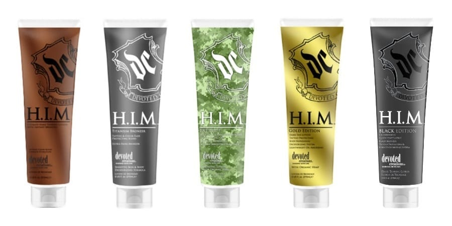 Мужская линия косметики для загара H.I.M от Devoted Creations