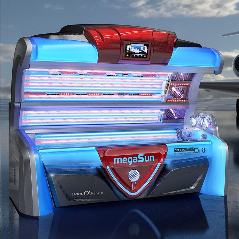 Горизонтальный солярий MegaSun 8000 alpha deluxe Hybrid