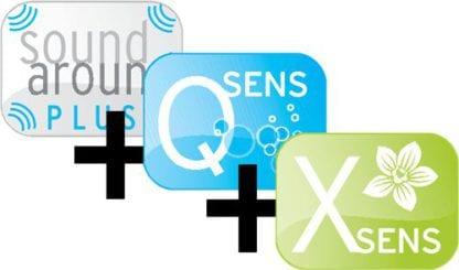 Аромаустановка X-sens + аквабриз Q-sens + SoundAroundPlus для соляриев Hapro Luxura