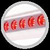 Ruby-Collagen-Booster – система специальных ламп с красным светом эффективно ухаживающих за кожей лица и декольте, обеспечивающих качественное увлажнение, релаксацию и детоксикацию кожи.